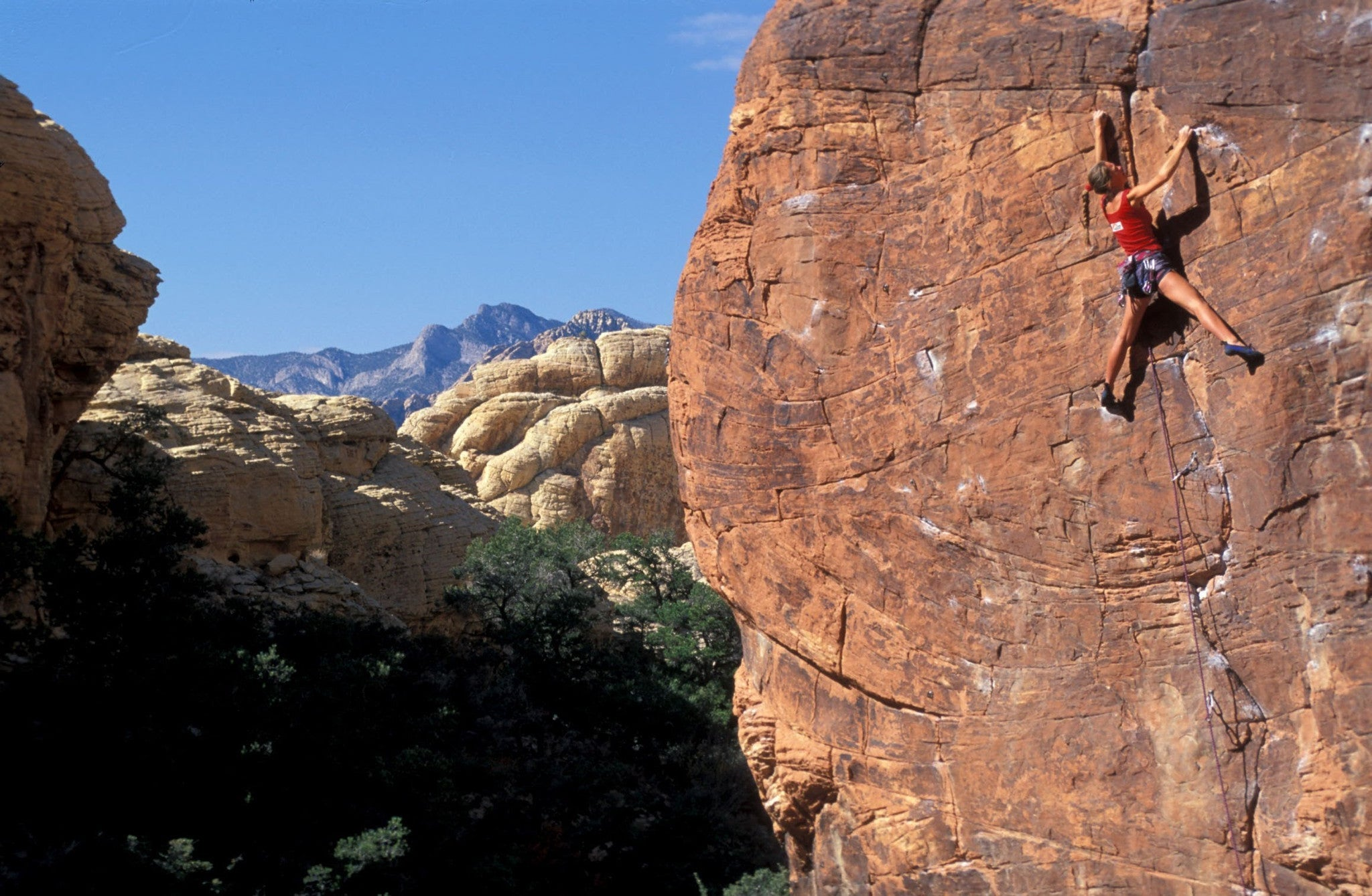 Maddie Ford Climbing Red Rock in Utah
