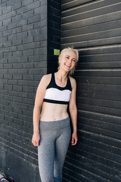 The Malibu Sports Bra White