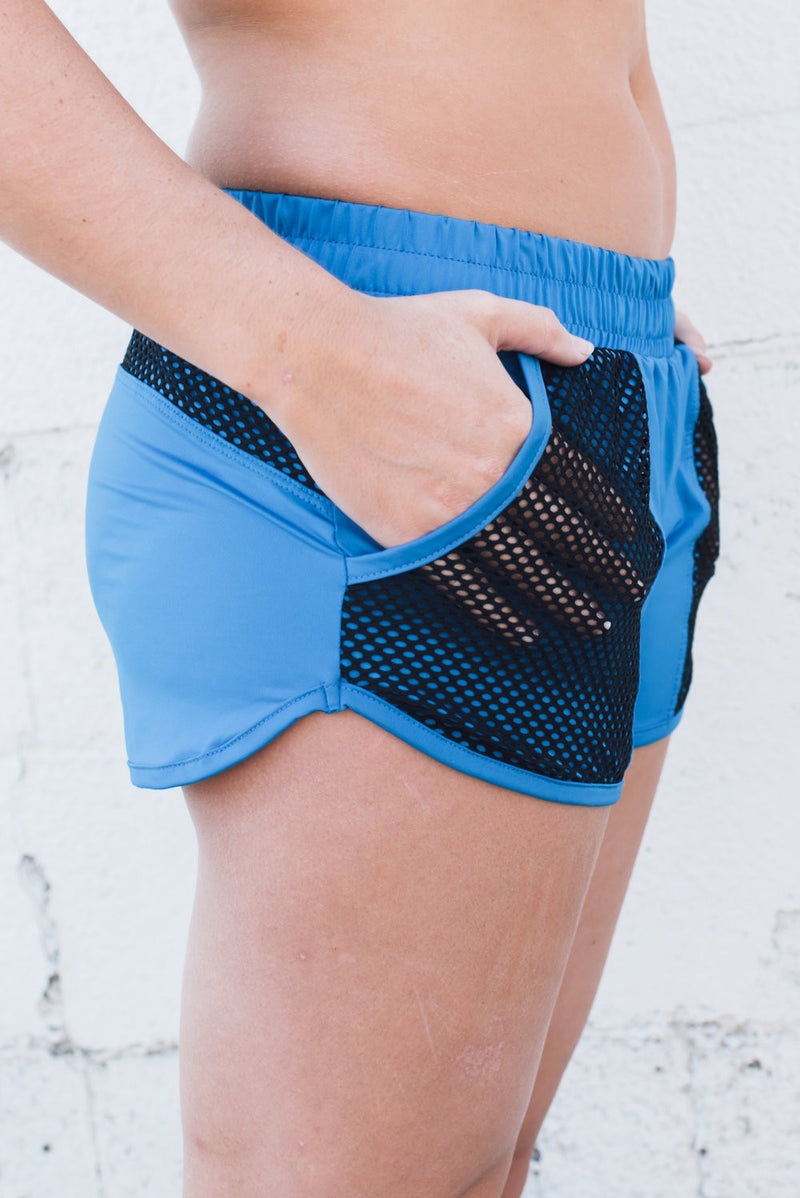 LA Boxing Shorts AC Blue - SwoobFit