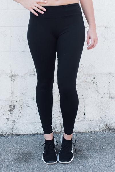 Full Length Yoga Leggings Eco Black - SwoobFit