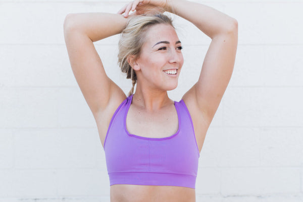Dragonfly Travel Pocket Sports Bra Base Layer Violet