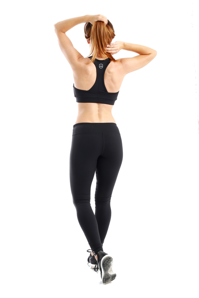 Idona Racerback Sports Bra Black