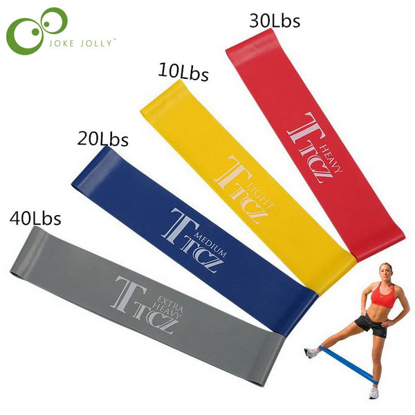 Fitness 4 Levels Pilates Yoga Rubber Resistance Strength Training Fitness Bands