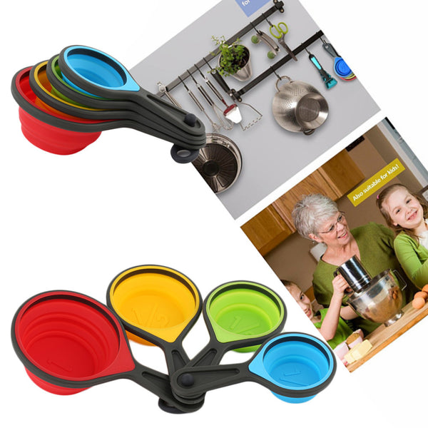 Set of 4 Colorful Measuring Cups, Home Goods Outlet