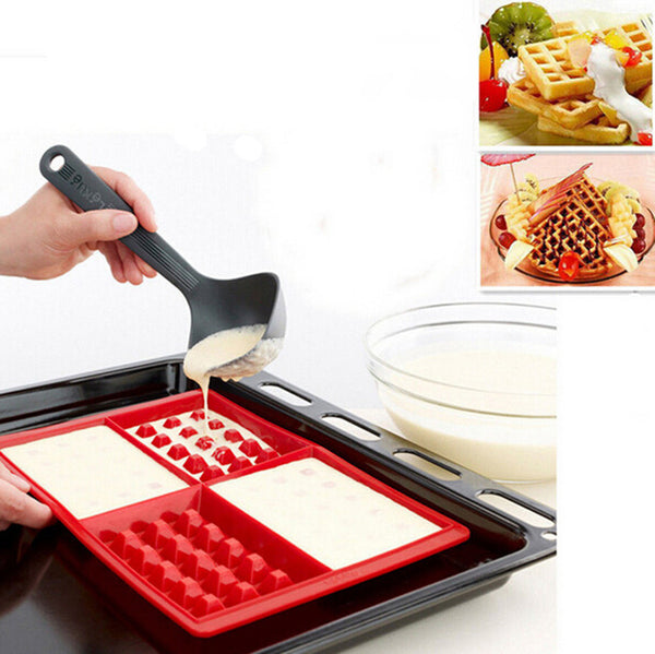 2 Silicone Waffle Rectangle Mold with 4 cavities, Home Goods Outlet