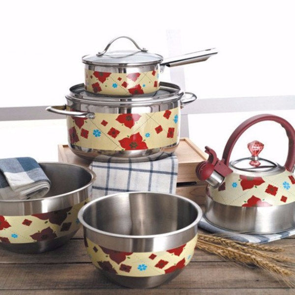 Kitchen Set of 5 - Casserole, Pan, Kettle & Bowls, Home Goods Outlet