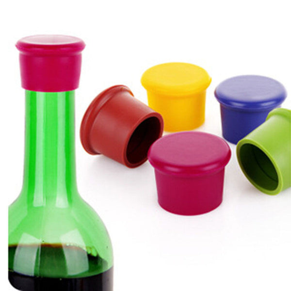 Set of 5 Wine Silicone Cover, Home Goods Outlet