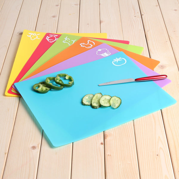 Set of 6 Flexible&Colorful Cutting Board