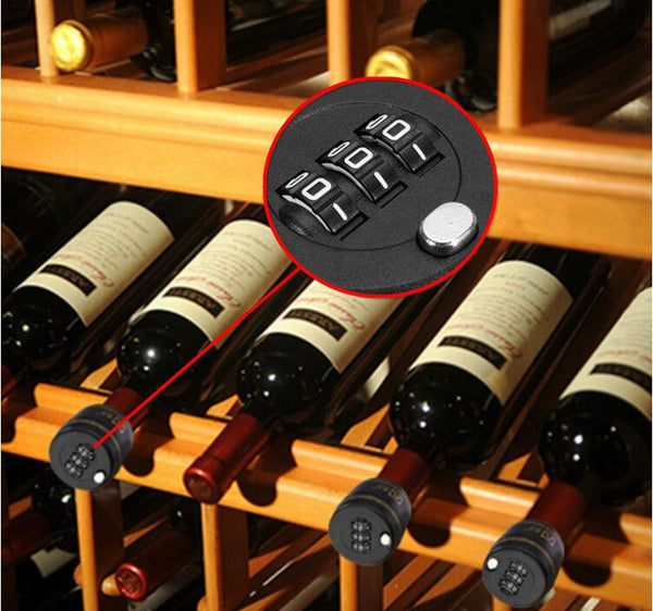 Black Password Lock Cover Wine Bottle, Home Goods Outlet
