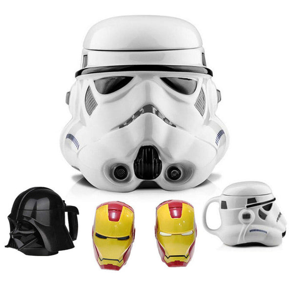 Iron Man/Storm Trooper/ Darth Vader - Sculpture Mug, Home Goods Outlet