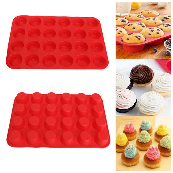 Mini Silicone Mold Muffin & Cake with 24 cavities, Home Goods Outlet
