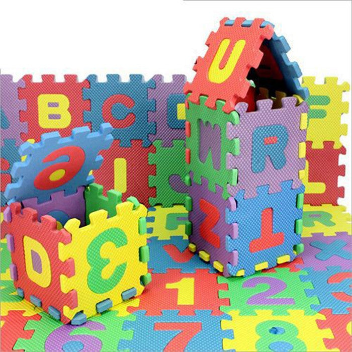 Set of 36 Soft Kids Puzzle Alphabet and Numbers