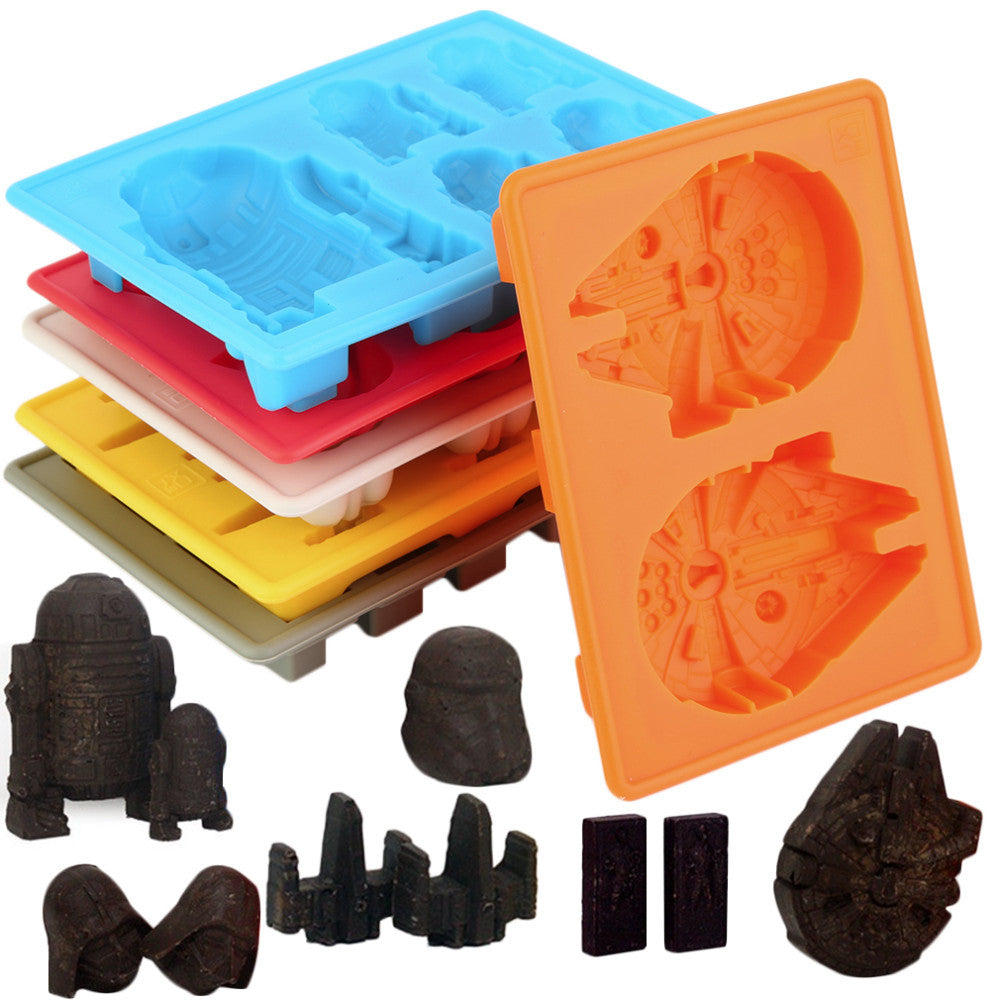 Set of 6 Colorful Star Wars Chocolate Silicone  Mold, Home Goods Outlet