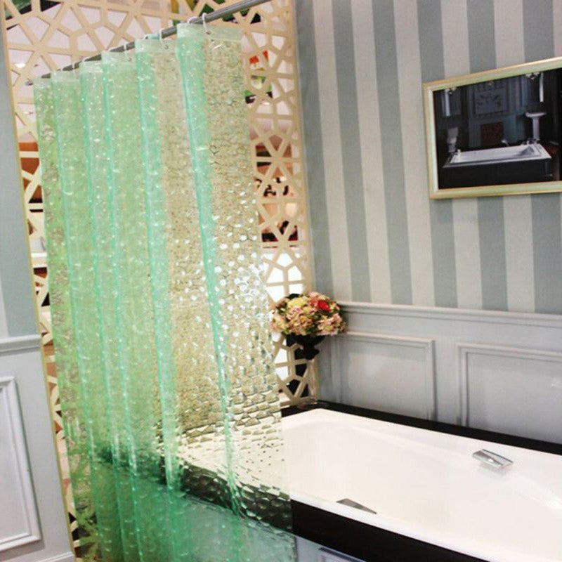 3D Water Cube Design Shower Curtain