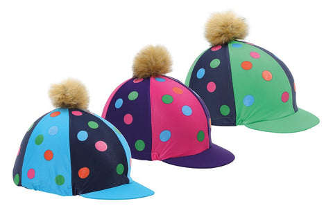 Pom Pom Hat Cover with spots - 3 Colours