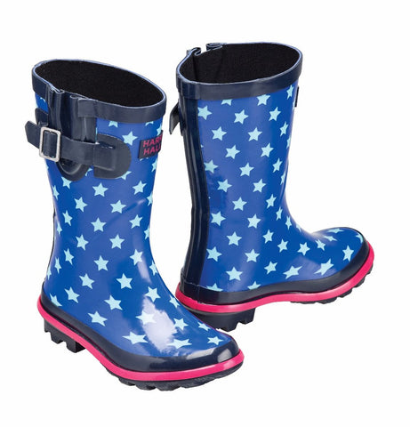 Harry Hall Hale Junior Wellington Boots - Blue