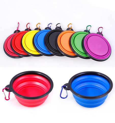 Collapsible Silicone Travel Pet Bowl - 3 Colours