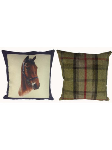 Portraits Royal Navy Cushion With Tweed Reverse