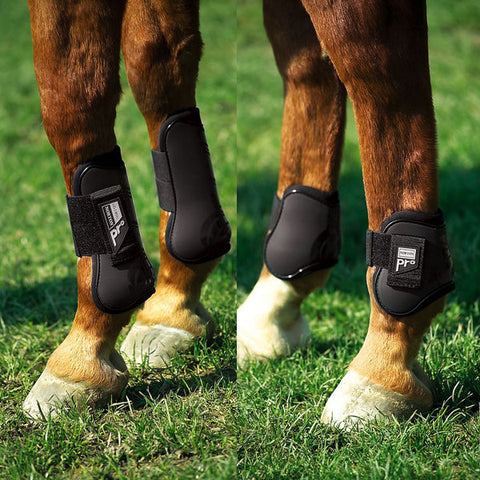 Norton Pro Tendon and Fetlock Boots Set - Black