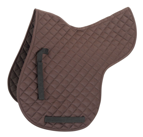 Shires Quilted Numnah - Brown