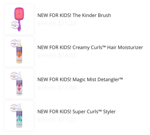 NEW! Kinder Curls™ Full Size Value Pack