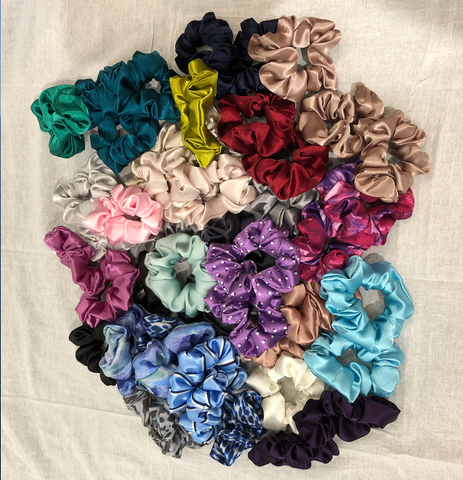 Hand Sewn Satin Scrunchie