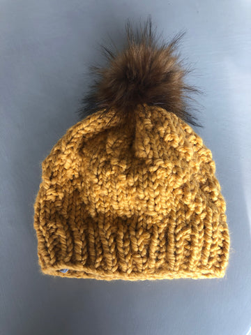 Satin lined winter toque hat