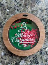 Merry Christmas Shaker Ornament