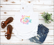 Let Love Tie-Dye- Ladies Tank