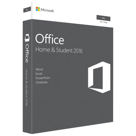 Microsoft Office 2016 Home and Student for Mac (1-User, Product Key Card)
