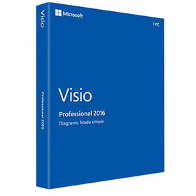Microsoft Visio Professional 2016 (1-User, Product Key Card)