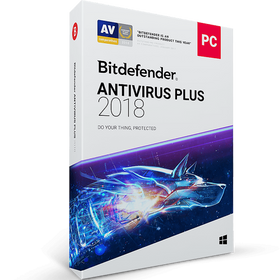 Bitdefender Antivirus Plus Download (1 Device, 1-Year Protection)