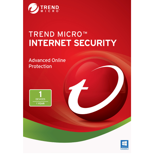 Trend Micro Internet Security 2017 Download  (1 PC, 1-Year Protection)