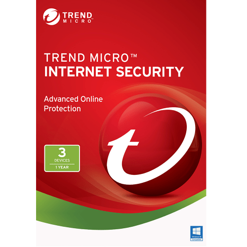 Trend Micro Internet Security 2017 Download (3 Devices, 1-Year Protection)