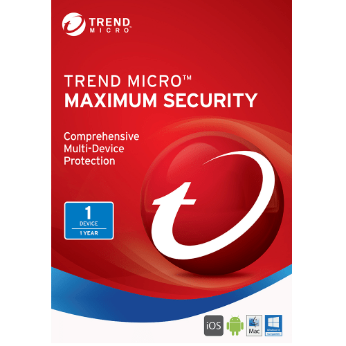 Trend Micro Maximum Security 2017 Download (1 Device, 1-Year Protection)
