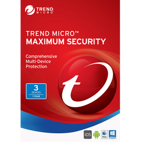 Trend Micro Maximum Security 2017 Download (3 User, 1-Year Protection)