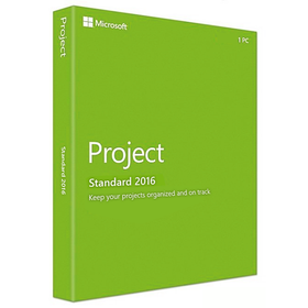 Microsoft Project Standard 2016 (1-User, Product Key Card)