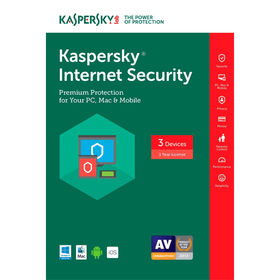 Kaspersky Internet Security 2017 Download (3 Devices, 1-Year Protection)