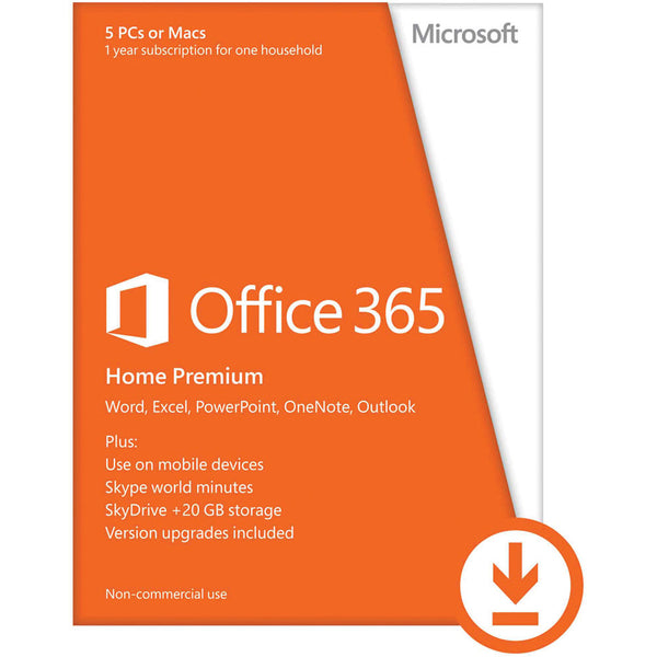 microsoft office 365 home download 5 pc or mac license 1 year