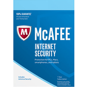 McAfee Internet Security Download- 1-Year / 3-PC - Global - SpeedyAV.com