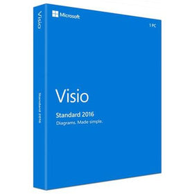 Microsoft Visio Standard 2016 (1-User, Product Key Card)