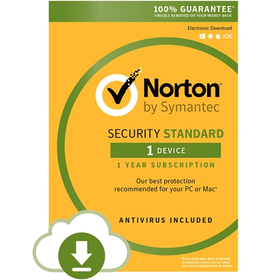 Norton Security Standard Download (1-PC/Mac, 1-Year Protection)