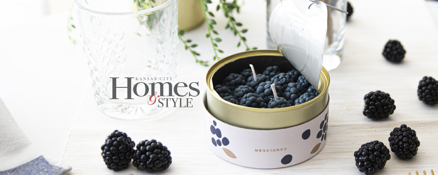 Kansas City Homes & Style Magazine Featured the Cinnamon Blackberry CandleCan