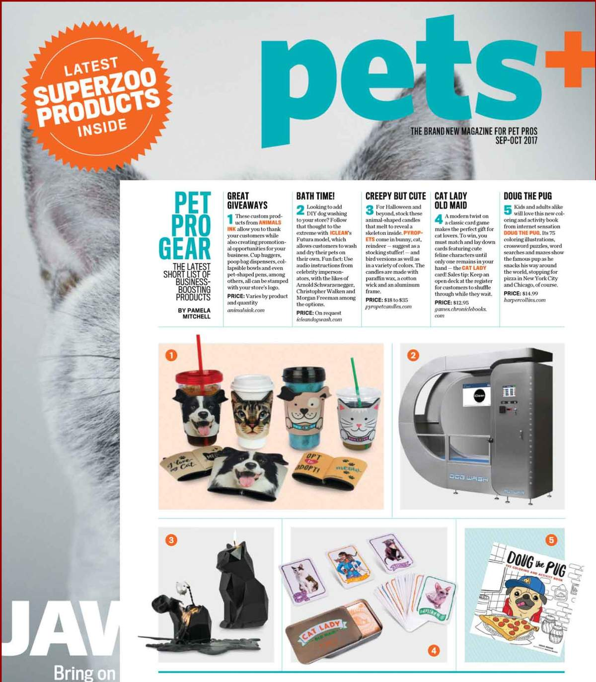 Pyropets featured in Pets+ Magazine September/October 2017 Issue