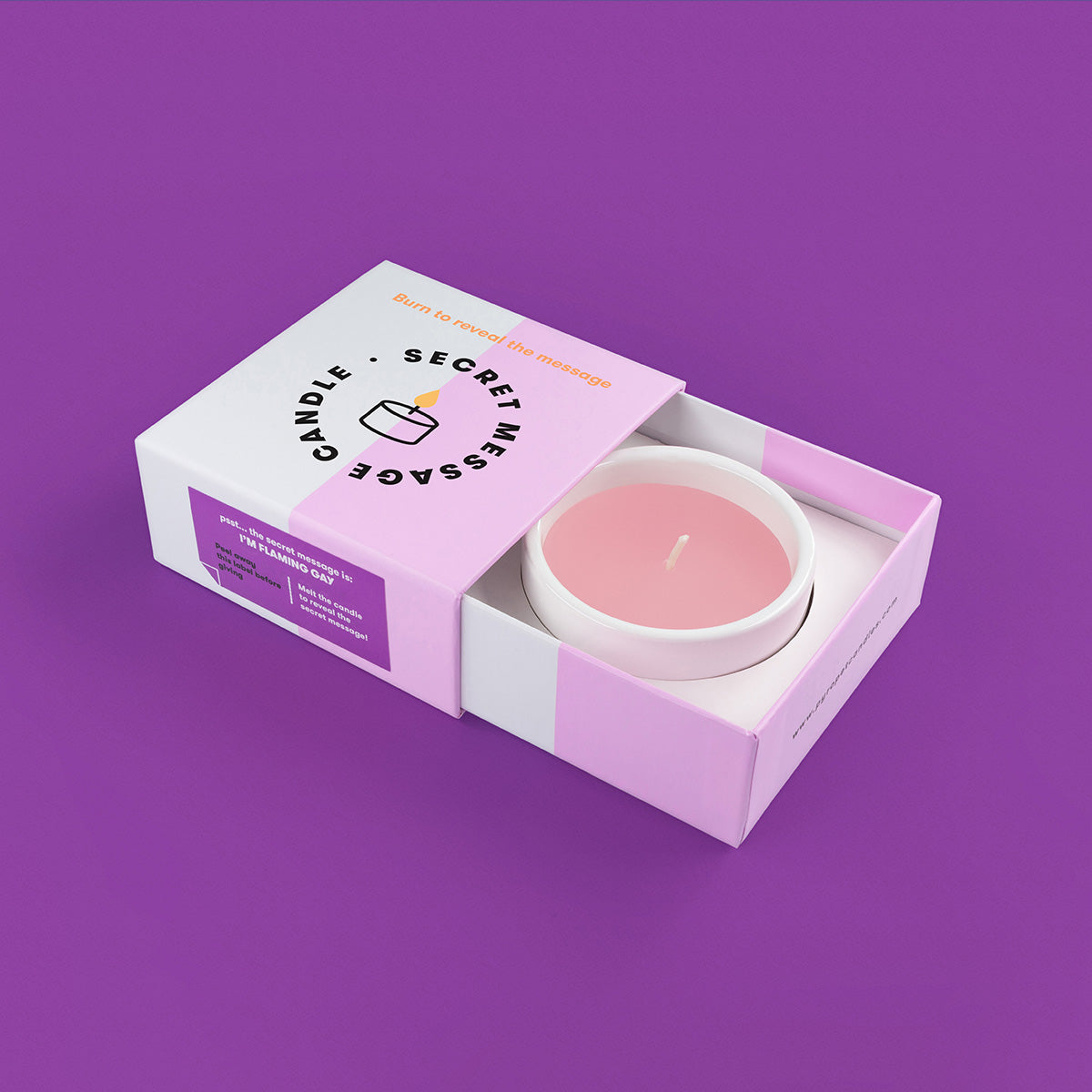 Secret Message Candle - I'm Flaming Gay