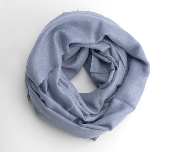 Dusty Blue Cashmere Scarf