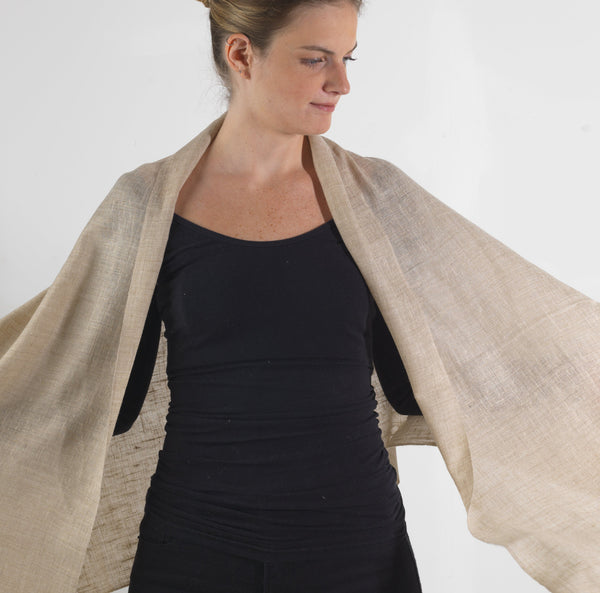 Natural Cashmere Scarf