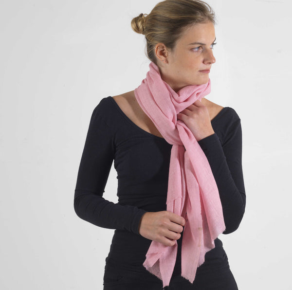 Rose Pink Cashmere Scarf