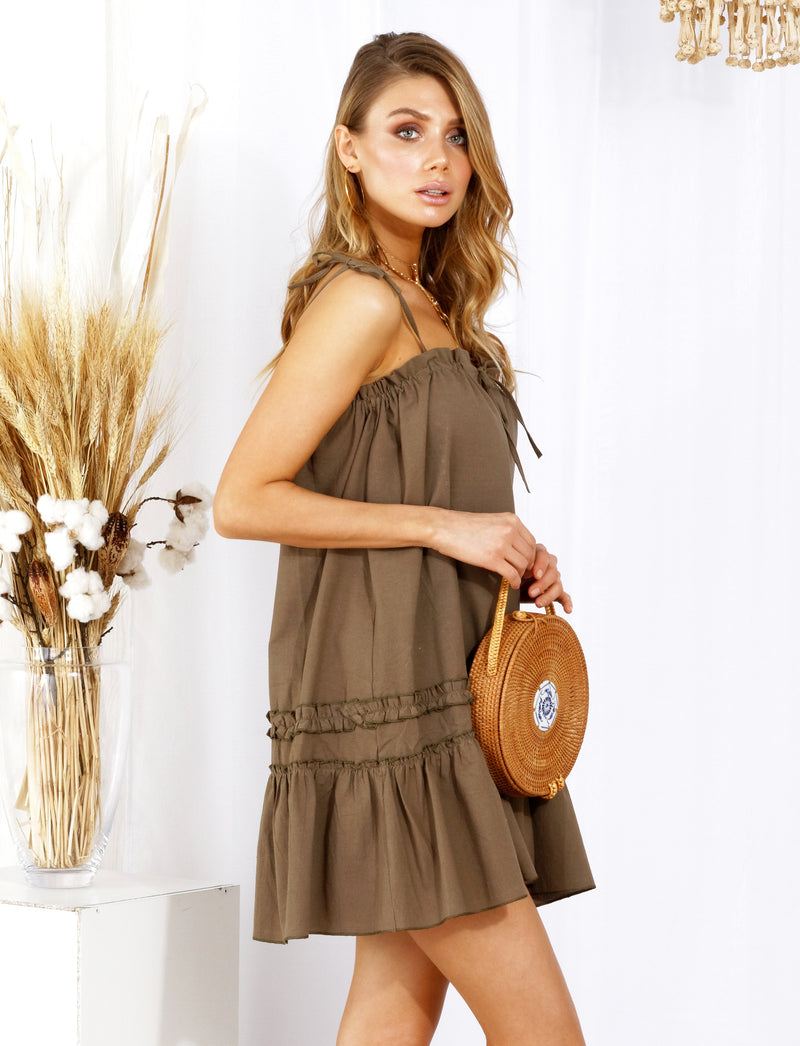 Julianna Dress Army Green