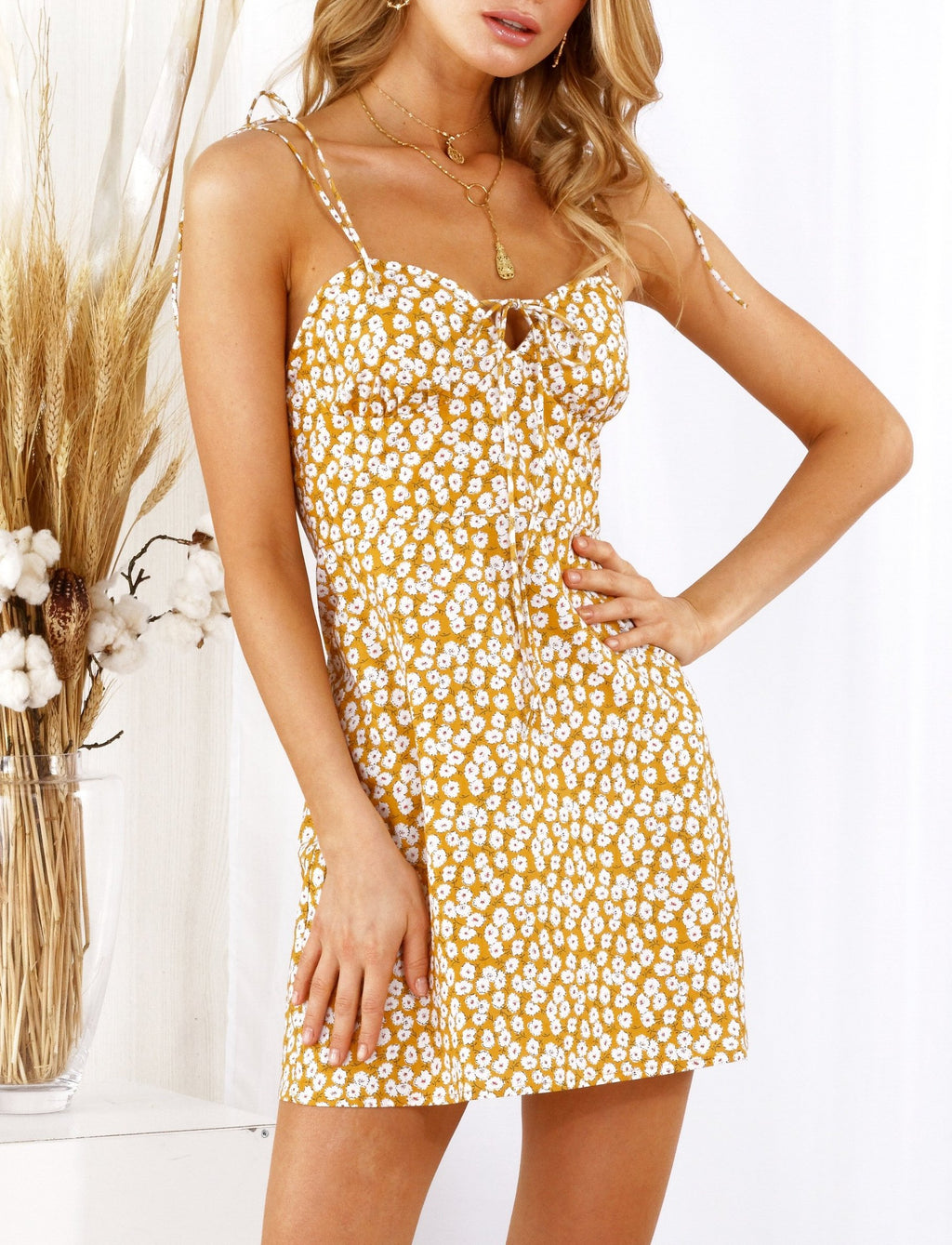 Emily Dress Yellow